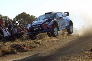 Kubica impegnato alla guida della sua Fiesta