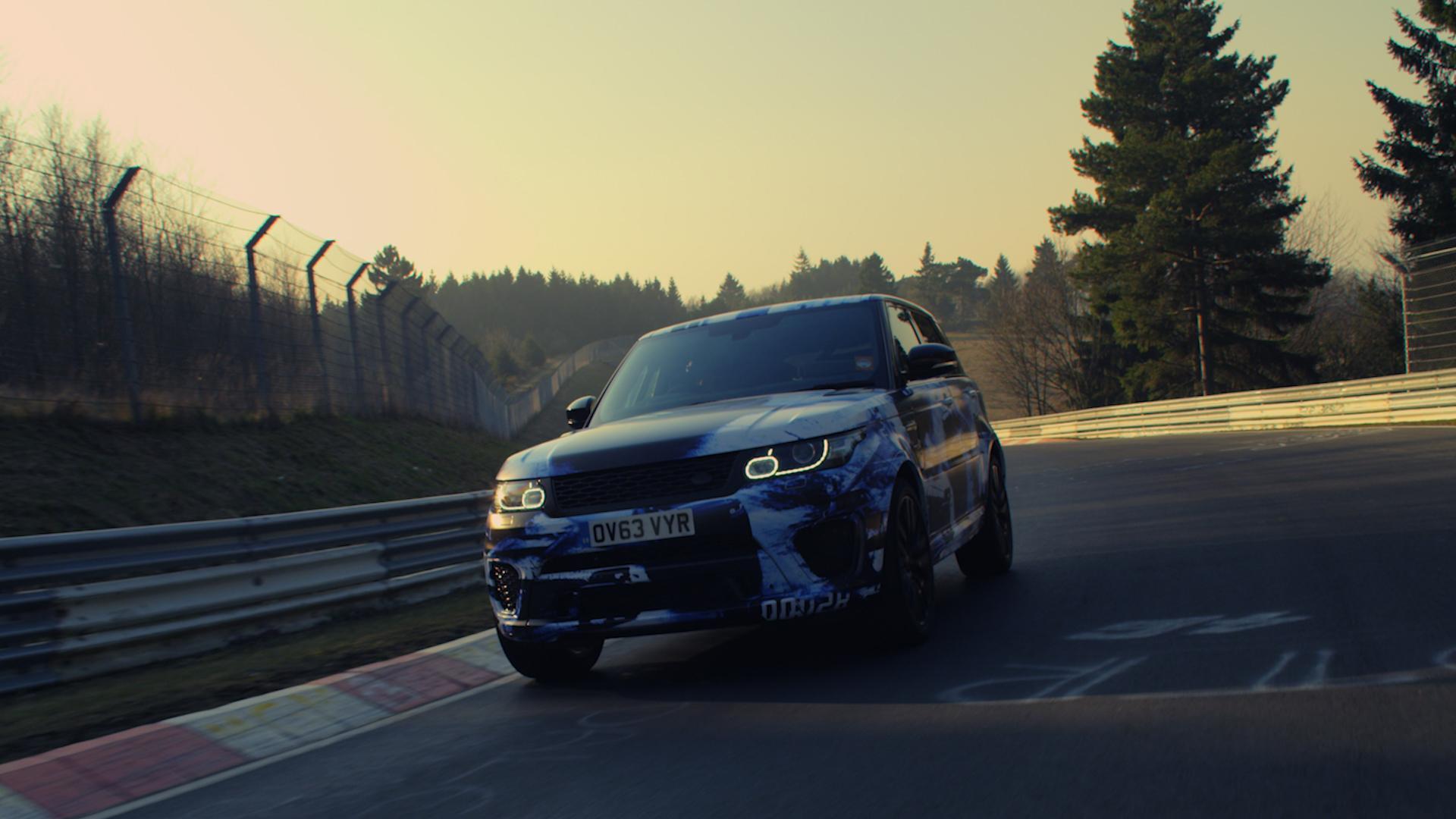 La Range Rover Sport al Nurburgring