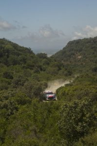Il rally immerso nella Sardegna